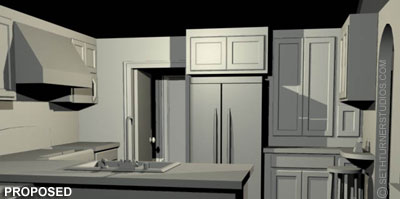 Proposed Kitchen - 3D Visualization